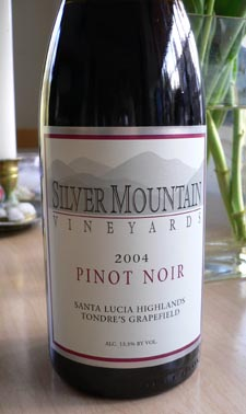 Silver Mountain Pinot Noir Tasting Notes